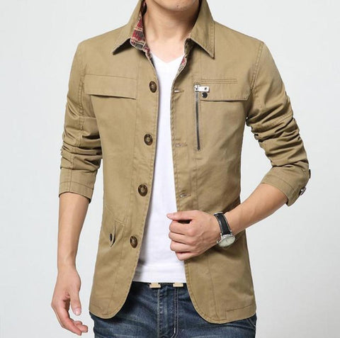 Mens Button Front Parker Jacket