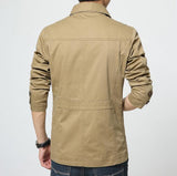 Mens Button Front Parker Jacket - AmtifyDirect