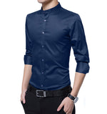 Mens Stand Collar Shirt
