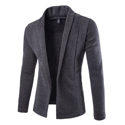 Mens Open Front Light Cardigan - AmtifyDirect