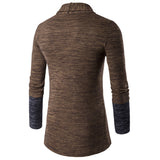 Mens Open Front Two Tone Cardigan - AmtifyDirect