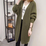 Womens Open Front Knit Cardigan