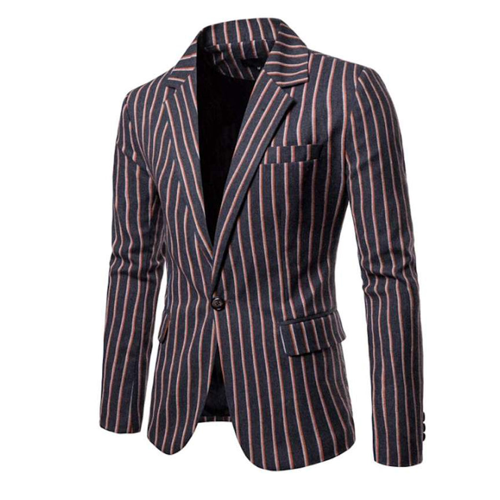 Mens Striped Linen Blazer