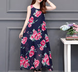 Womens Sleeveless Floral Dress