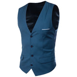 Mens Slim Fit Button Down Vest with Pocket Details