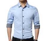 Mens Button Down Shirt with Shoulder Details - AmtifyDirect