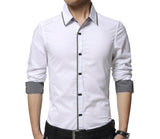 Mens Button Down Shirt with Shoulder Details
