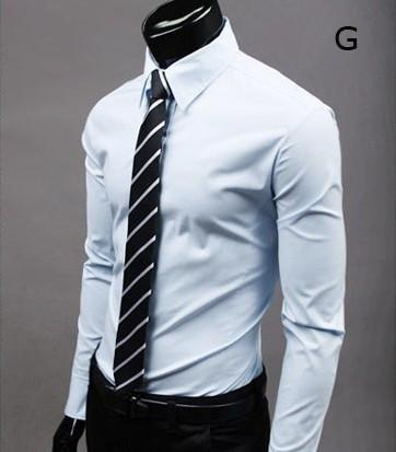 Mens Slim Fit Shirt Button Front Style