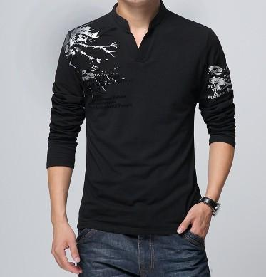 Mens Long Sleeve Top With Details - AmtifyDirect