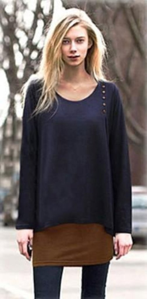 Casual Layered Button Top