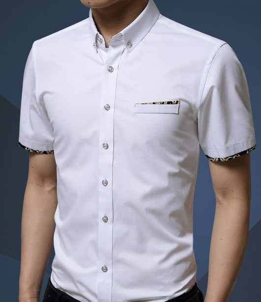 Mens Slim Fit  Short Sleeve Shirt