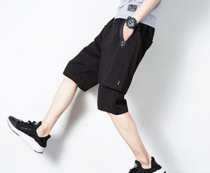 Mens Black Layered Look Shorts - AmtifyDirect