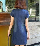 Denim A Line Dress with Pockets
