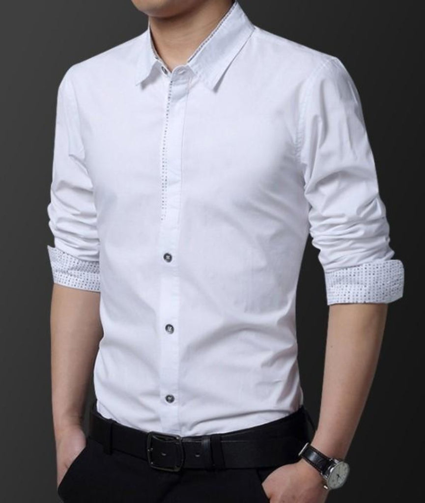 Mens Three Button Style Slim Fit Shirt