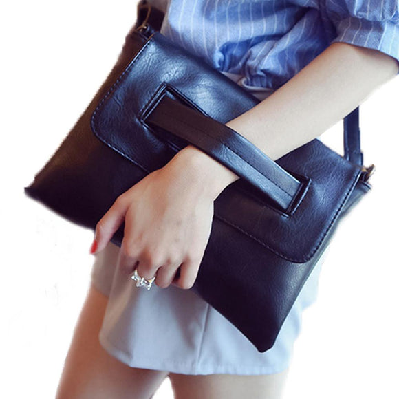 Womens Vegan Leather Envelope Clutch Bag