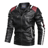 Mens Vegan Leather Biker Jacket