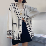 Womens Outline Print Cardigan
