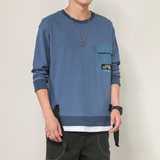 Mens Layered Look Sweatshirt With Print At The Back
