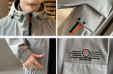 Mens Hooded Windproof Jacket With Collar Details