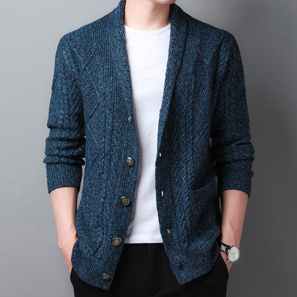Mens Shawl Collar Knitted Cardigan