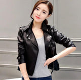 Womens Faux Leather Motorcycle Jacket