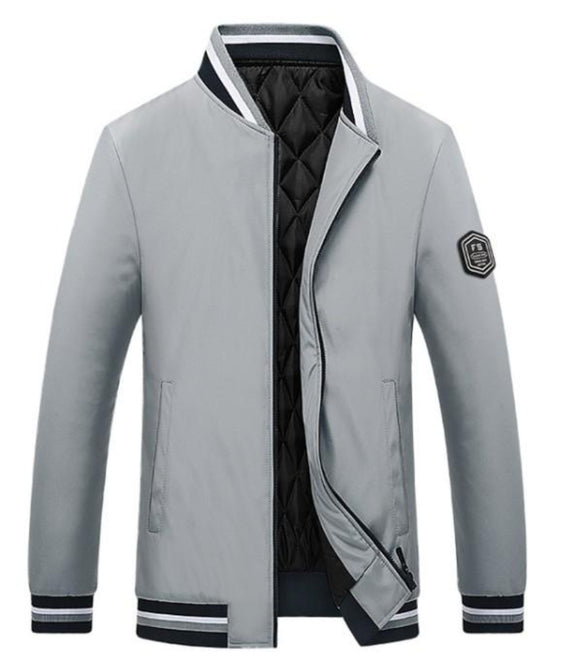 Mens Baseball Jacket with Inner Warming Layer