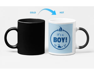 Its a BOY Baby Shower Color Changing Heat Sensitive Mug