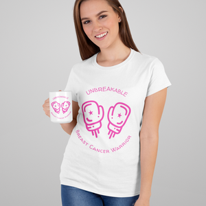 Unbreakable Pink Ribbon Awareness T-Shirt