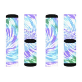 Purple Tie Dye Novelty Socks