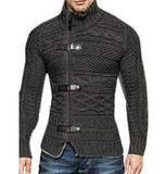 Mens Cardigan with Snap Button Closure - AmtifyDirect