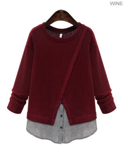 Women's Layered Knit Top