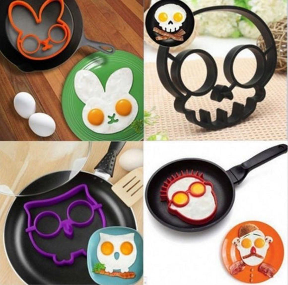 Cartoon Theme Egg and Pancake Mold Set 6 pcs Set