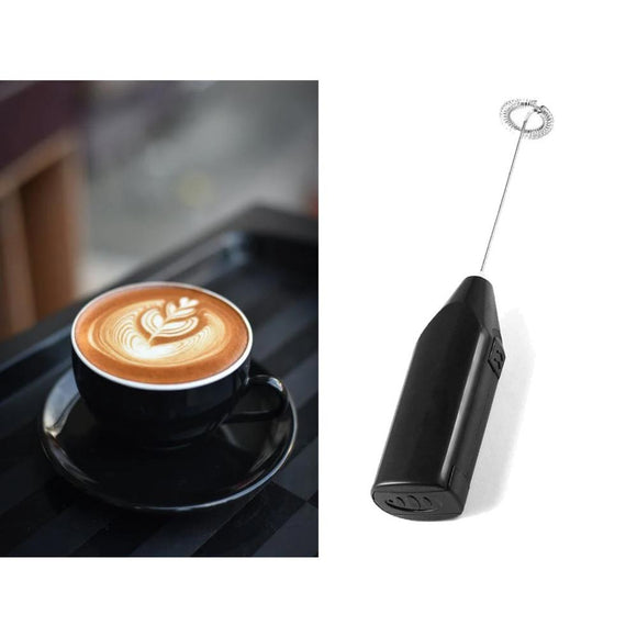 Electric Stirrer 2 pcs Set for Milk, Latte and Eggs