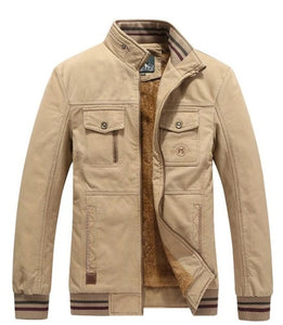 Mens Stand Collar Military Pilot Jacket
