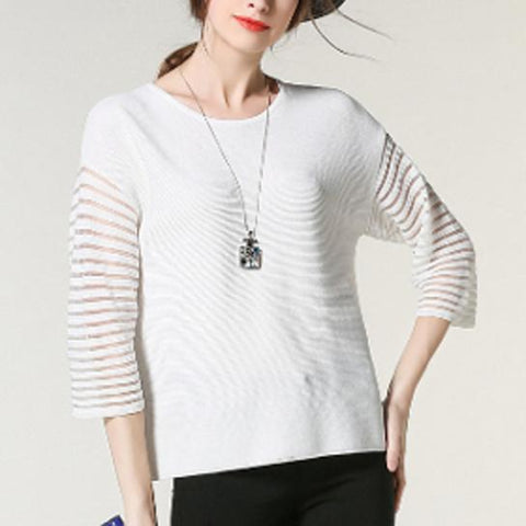 Women's Quarter Sleeve Sweater Top