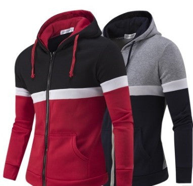 Men's cotton blend/polyester Casual Zip Up Hoodie - AmtifyDirect