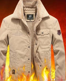 Mens Military Style Short Jacket