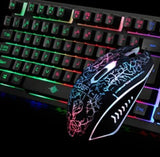 Ninja Dragons 104 Keys LED Flame Gaming Keyboard with Mouse