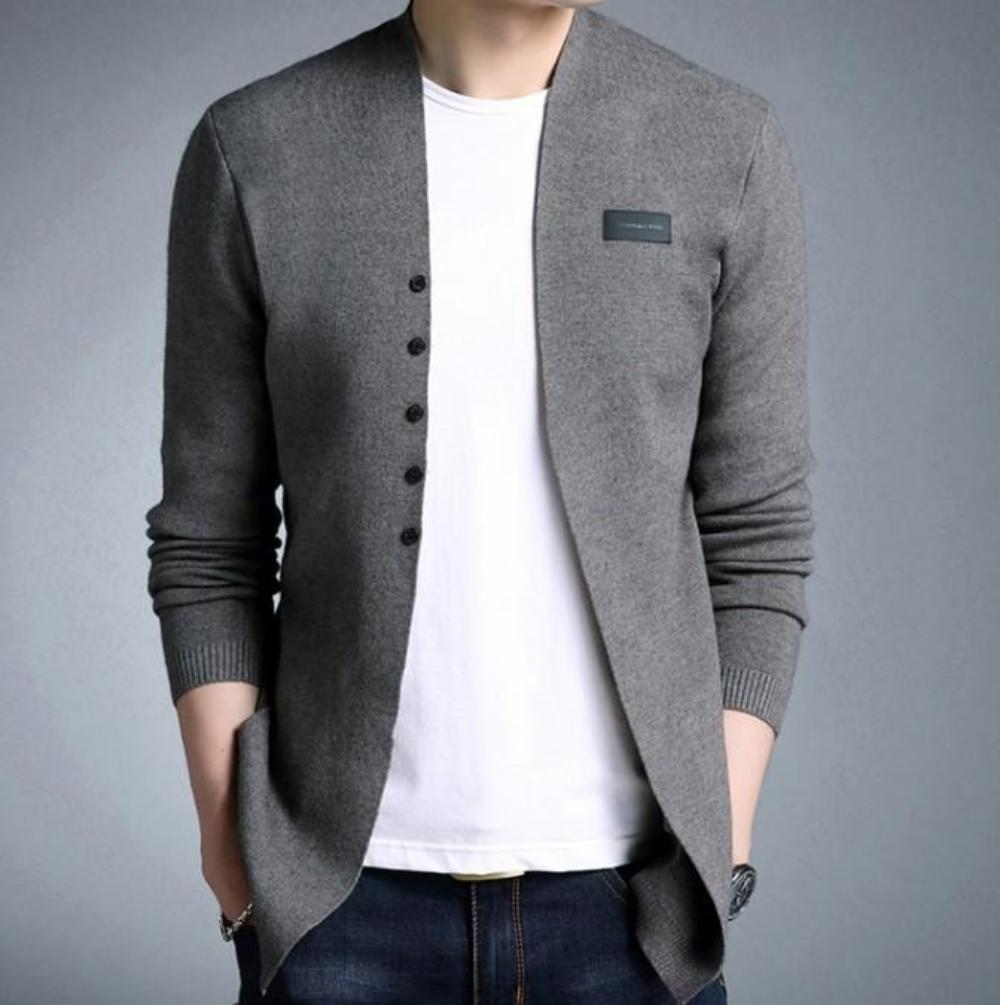 Mens Casual Slim Fit Cardigan with Buttons Design