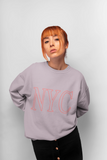 Womens Pink NYC Crewneck Sweatshirt