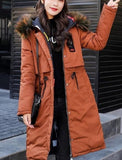 Womens Winter Hooded Puffer Coat with Reversible Fun Design