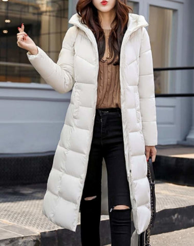 Womens Hooded Long Coat