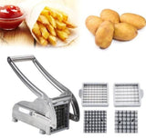 Stainless Steel French Fries and Potato Cutter with 2 Different Blades