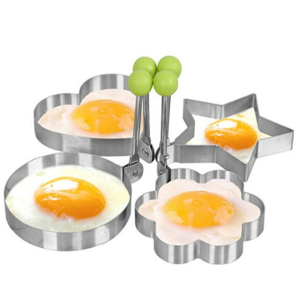 Stainless Steel Fried Egg Pancake Shaping Mold 4 pcs set