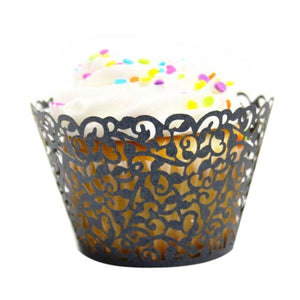 Little Vine Lace Laser Cut Cupcake Wrapper 100 pcs set