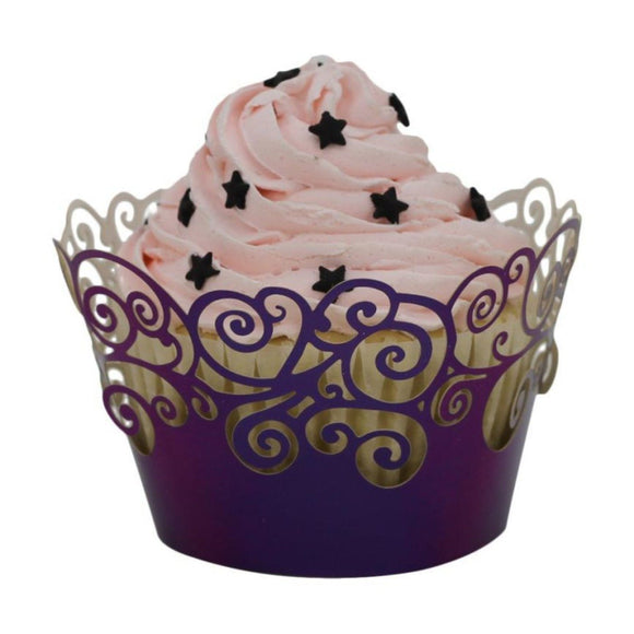 Holiday Theme Lace Laser Cut Cupcake and Muffin Holder 100 units set