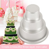 Mini 3-Tier Cupcake Pudding Cake Mold 5 pcs set