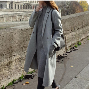 Womens Casual Mid Length Coat