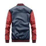 Mens Faux Leather Baseball Jacket - AmtifyDirect