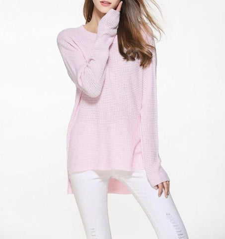 Womens Casual Round Neck Sweater